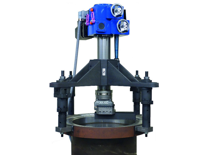 TD Portable lathes for sealing flanges, laces, bores