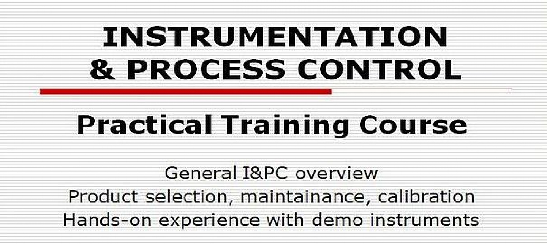 PIC Technical Training Modules